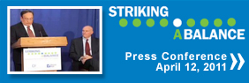 Striking a Balance Poll Press Conference Video
